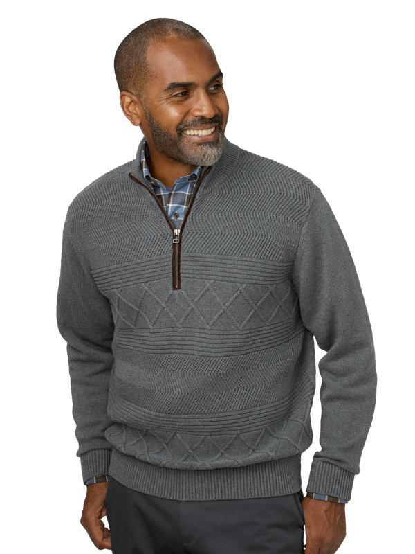 Cable Half Zip Sweater