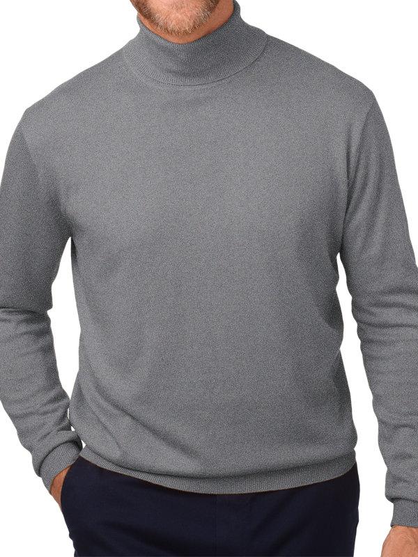 Silk, Cotton and Cashmere Turtleneck Sweater