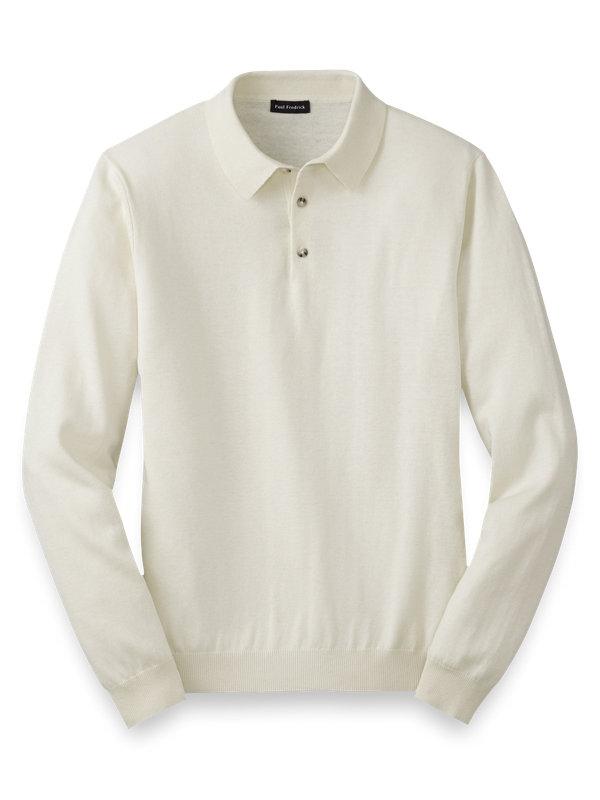 Silk, Cotton and Cashmere Three Button Polo