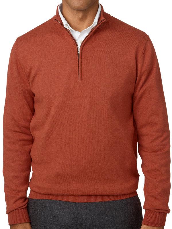 Silk, Cotton and Cashmere Half Zip Sweater