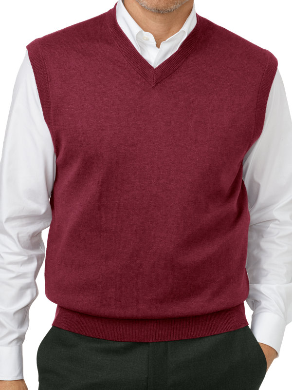 Silk, Cotton and Cashmere Pullover Sweater Vest