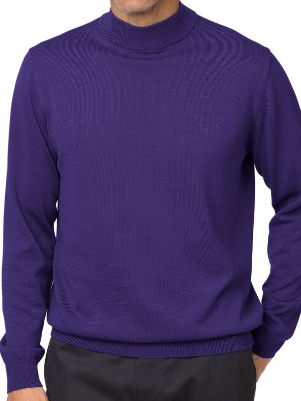 Supima Cotton Mock Neck Sweater