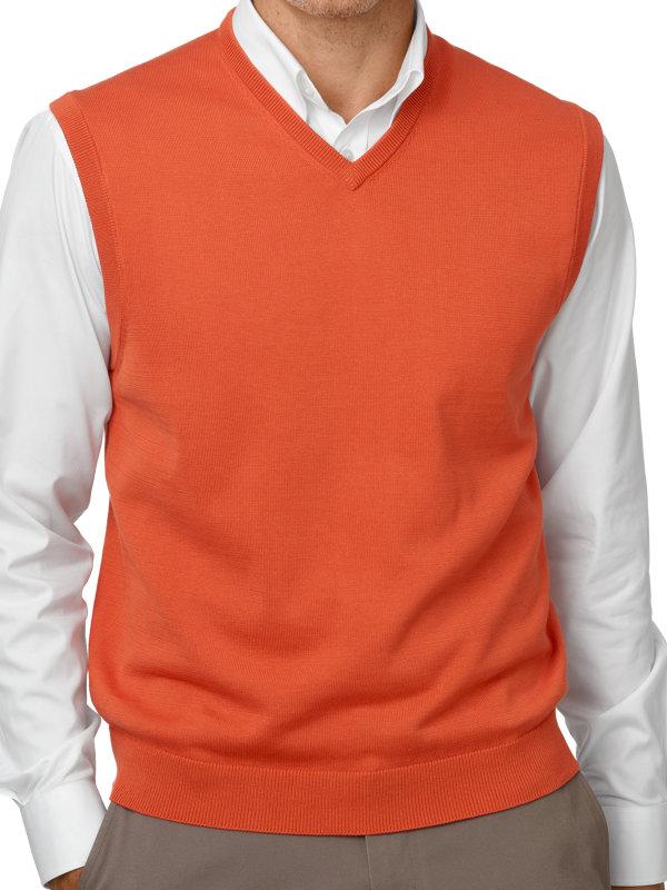 Supima Cotton V-Neck Sweater Vest