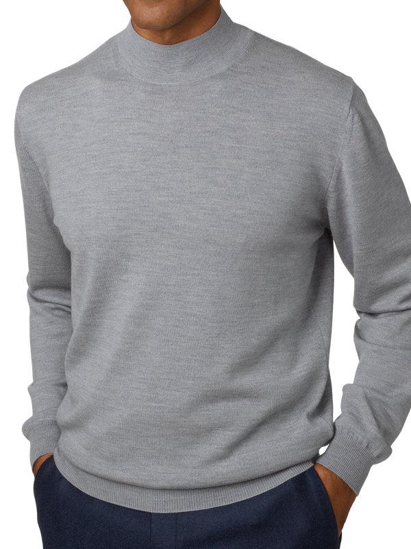 Italian Merino Wool Mock Neck Sweater