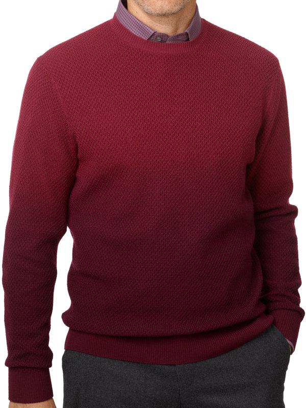 Wool Ombre Crew Neck Sweater