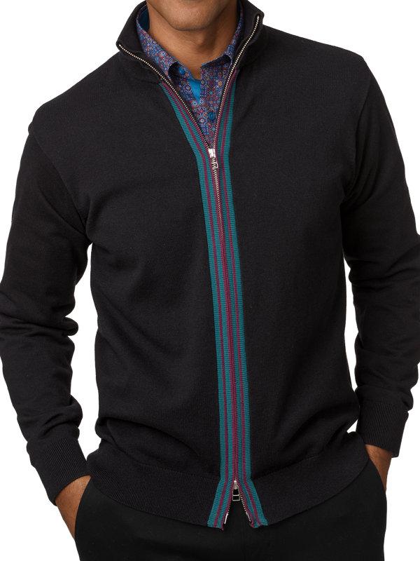 Cotton Full Zip Cardigan Sweater