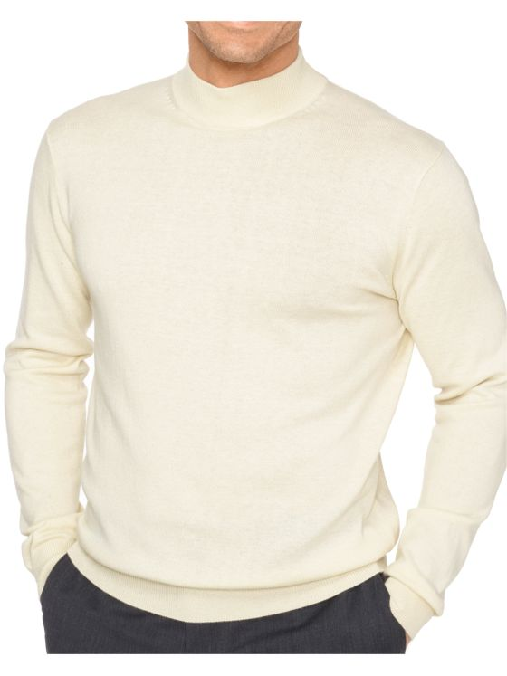 Silk, Cotton, & Cashmere Mock Neck Sweater