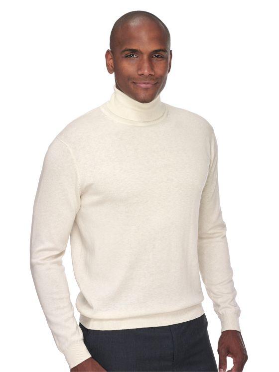 Silk, Cotton & Cashmere Turtleneck Sweater