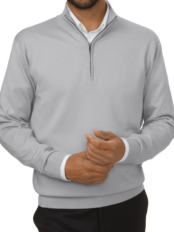 Silk, Cotton and Cashmere Half Zip
