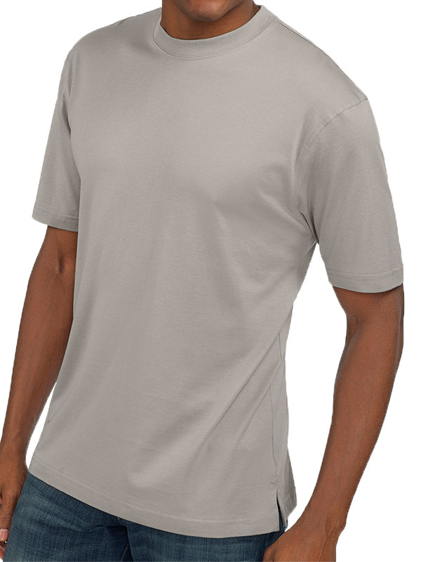 Cotton & Silk Short Sleeve Crew