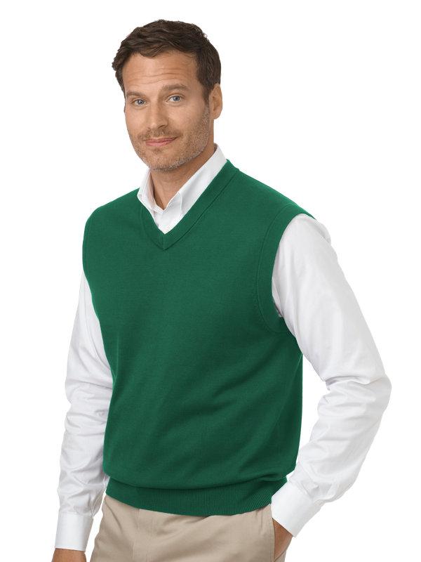 Pima Cotton V-Neck Pullover Sweater Vest