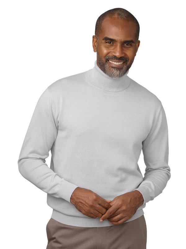 Pima Cotton Turtleneck Sweater