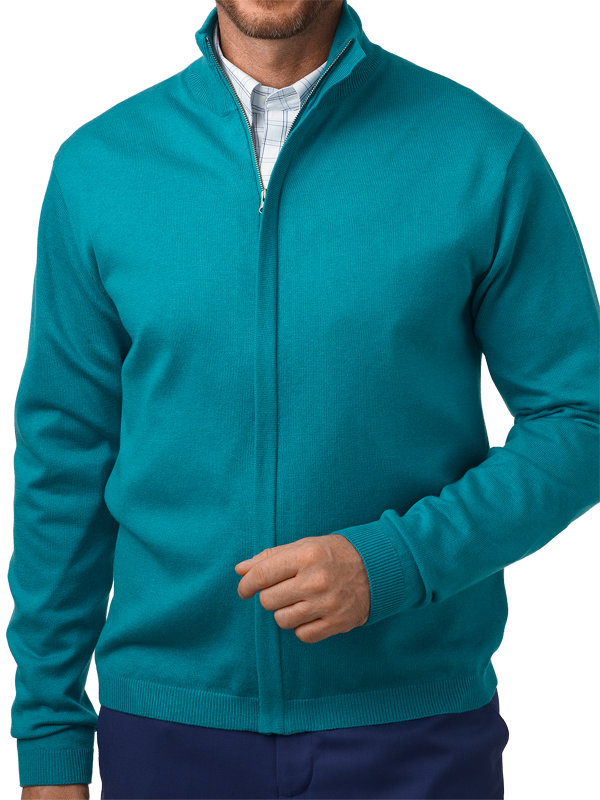 Silk, Cotton & Cashmere Full Zip Sweater