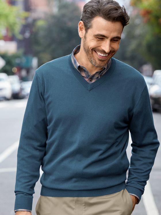 Silk, Cotton & Cashmere V-neck Sweater