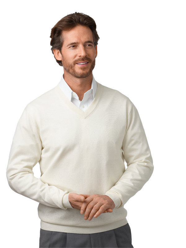 Silk, Cotton & Cashmere V-neck Pullover Sweater