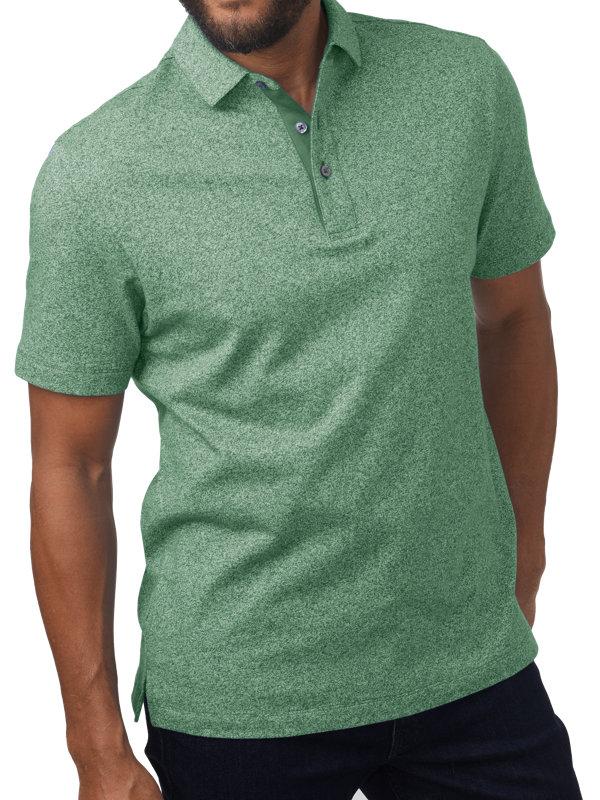 Heathered Cotton Short Sleeve Polo