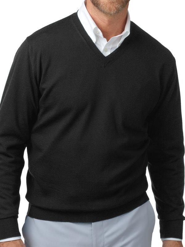 Italian Merino V-neck Sweater