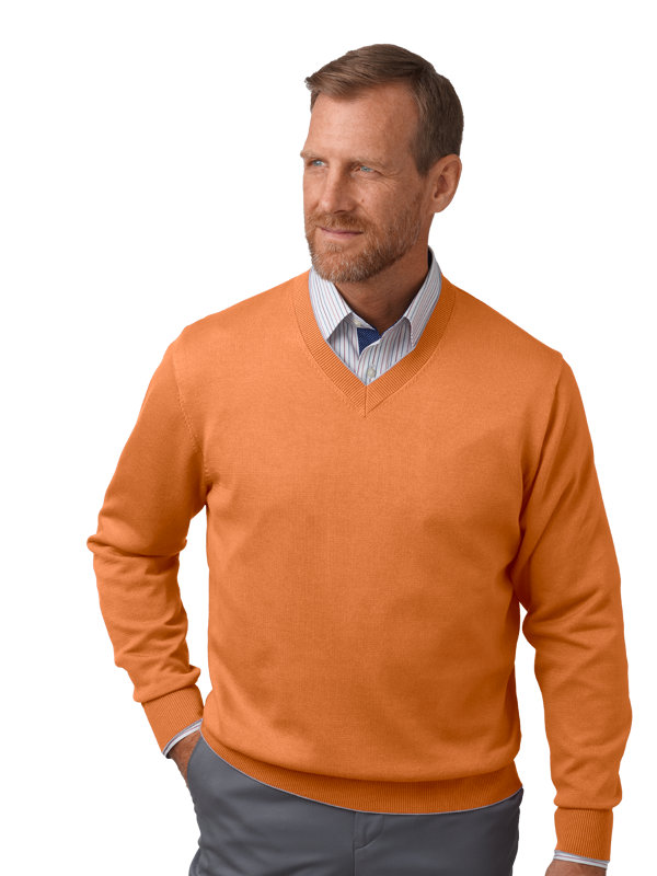 Supima Cotton V-Neck with Tipping