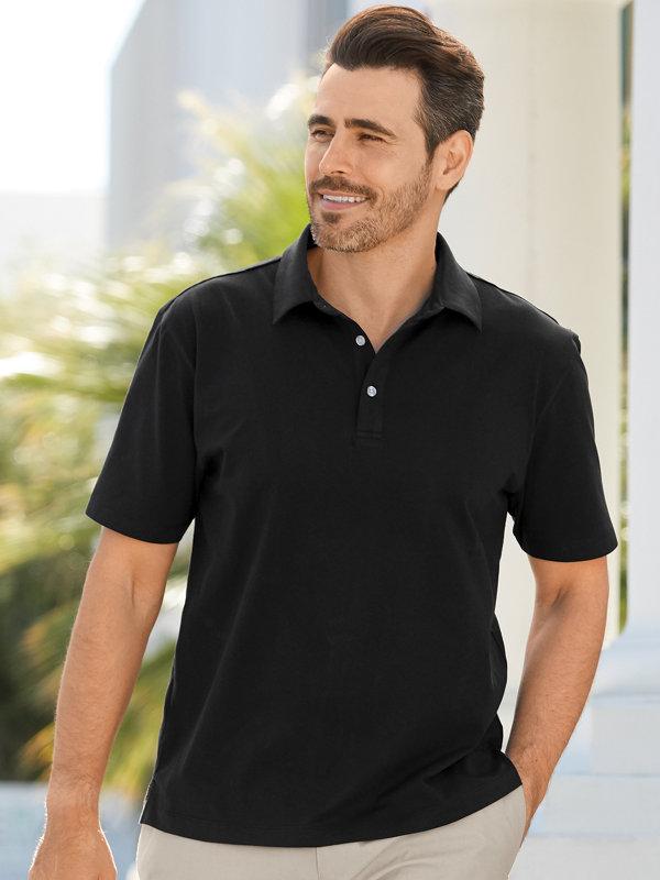 Cotton and Silk Short Sleeve Polo