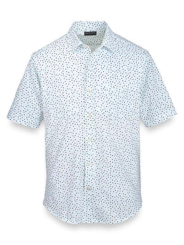 Cotton Print Button Front Polo