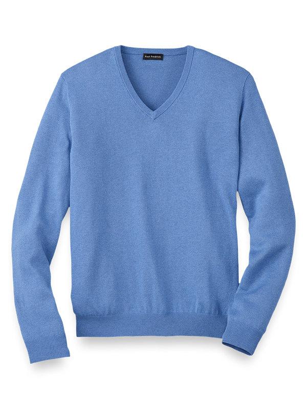 Silk Cotton and Cashmere V-Neck