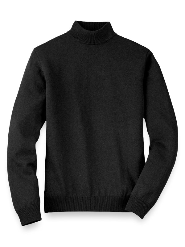 Silk Cotton and Cashmere Mock Neck