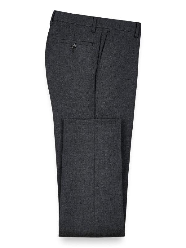 Wool Gabardine Flat Front Pant
