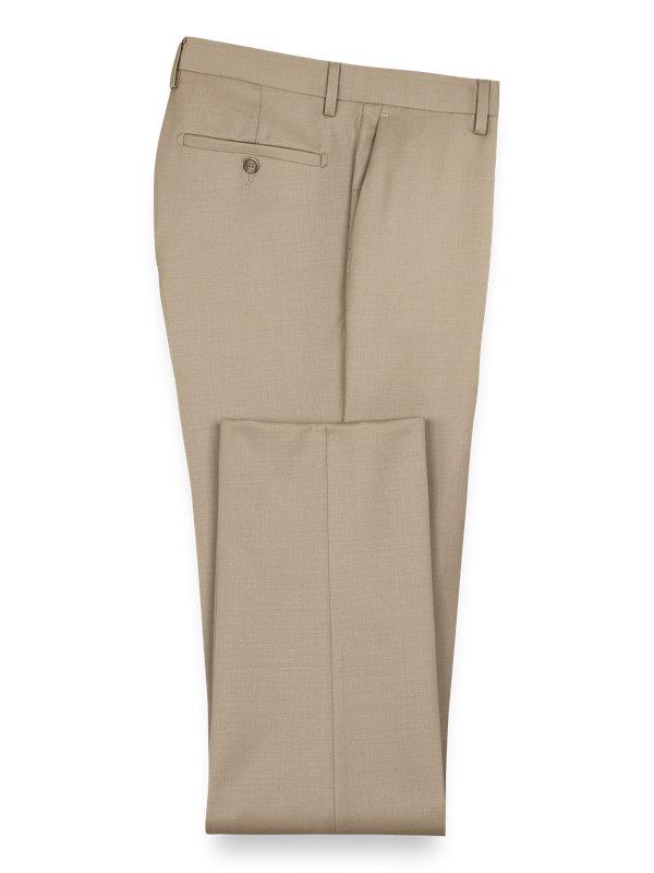Classic Fit Wool Gabardine Flat Front Pant