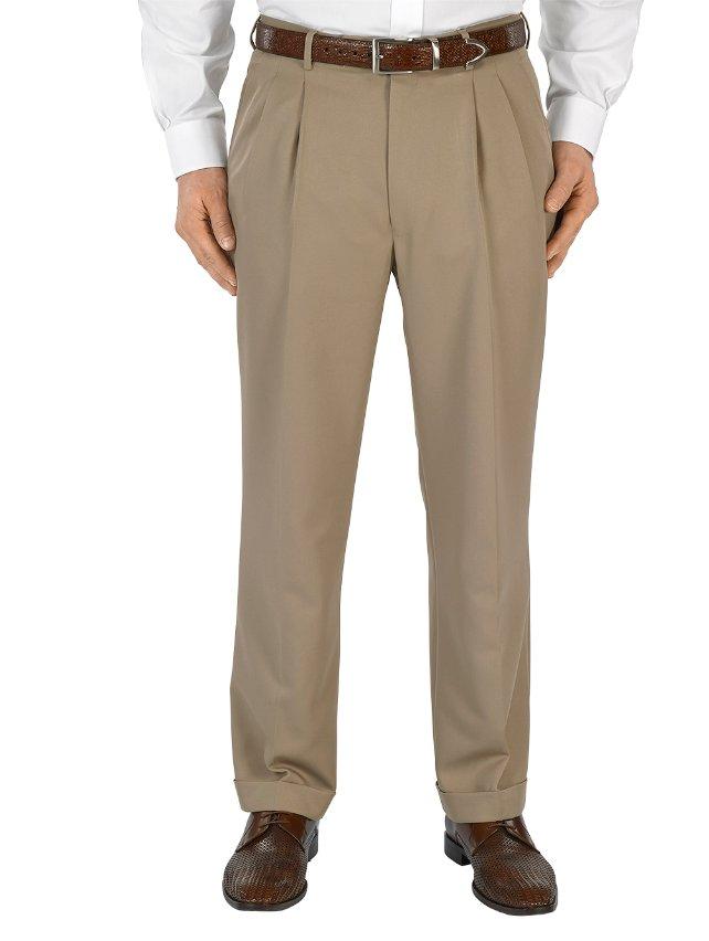 Microfiber Pleated Pants
