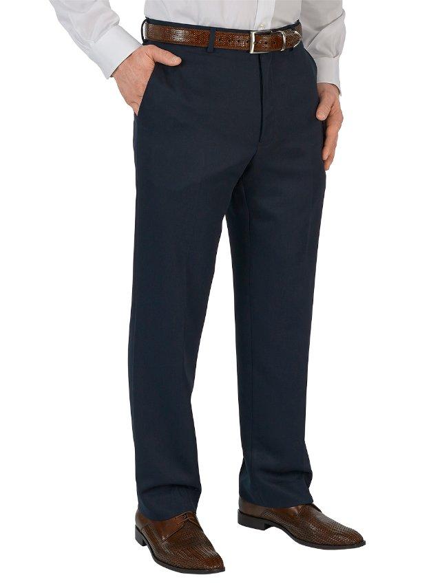 Microfiber Flat Front Pants
