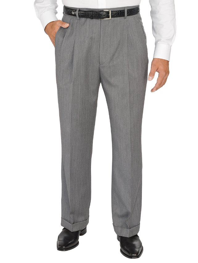 Comfort-Luxe™ Super 100's Italian Wool Pleated Pants