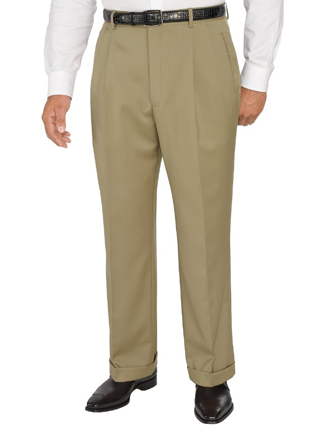 Comfort-Luxe™ Super 100's Italian Wool Pleated Pants