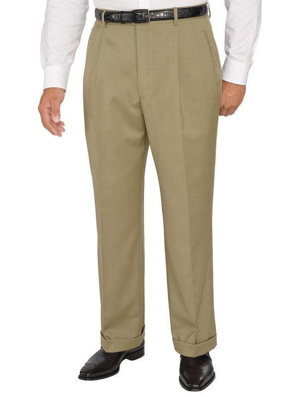 Italian wool Pleated Pants