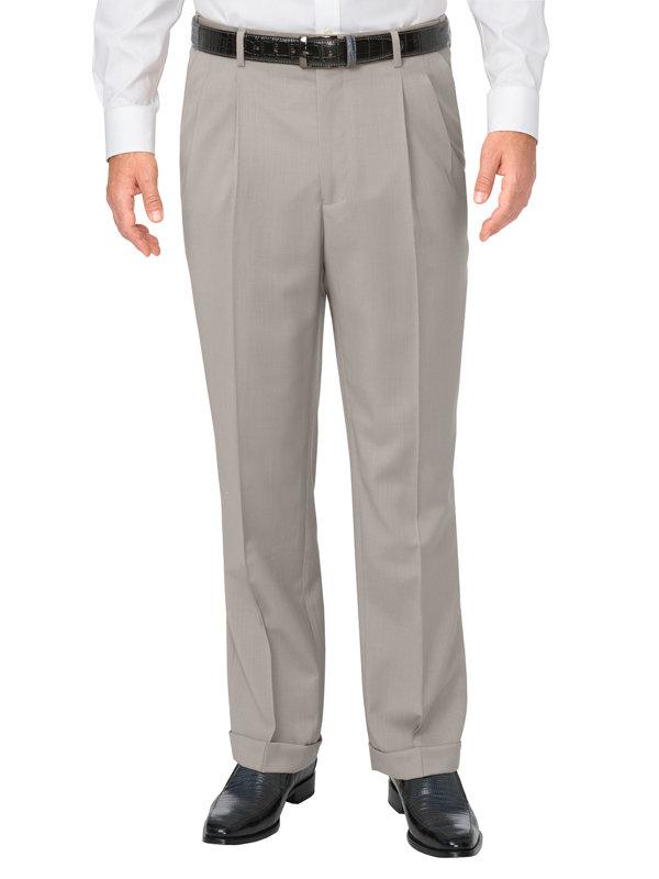 Washable Wool Pleated Pant
