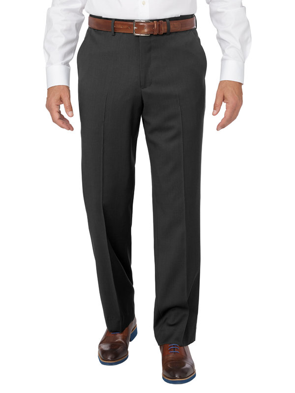 Washable Wool Flat Front Pant