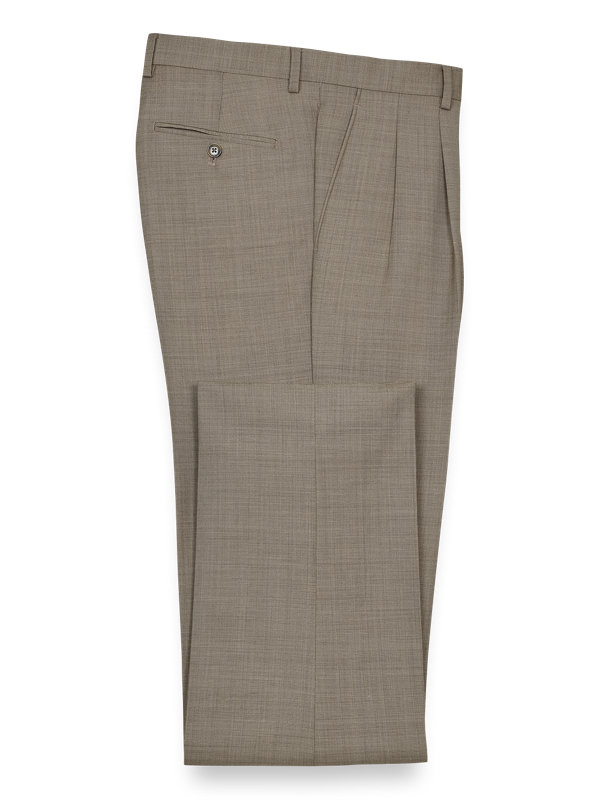 Sharkskin Pleated Pants