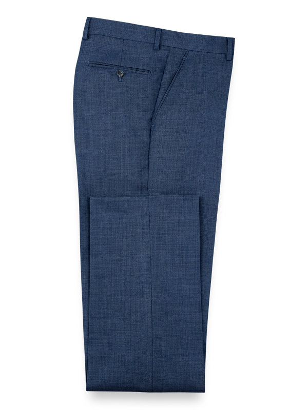 Sharkskin Flat Front Pants