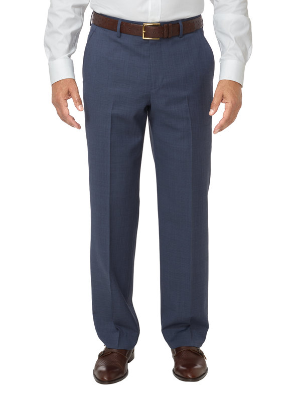Tailored Fit Sharkskin Flat Front Pant