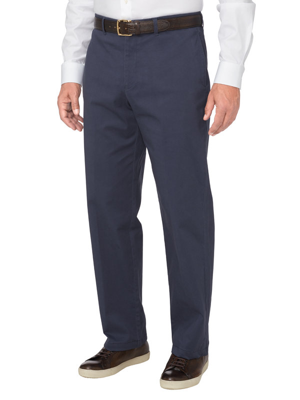 Tailored Fit Ultra-soft Flat Front Twill Pant