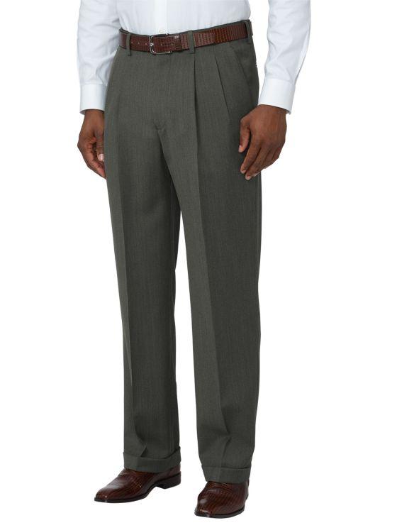 Super 110's Wool Pleated Pants