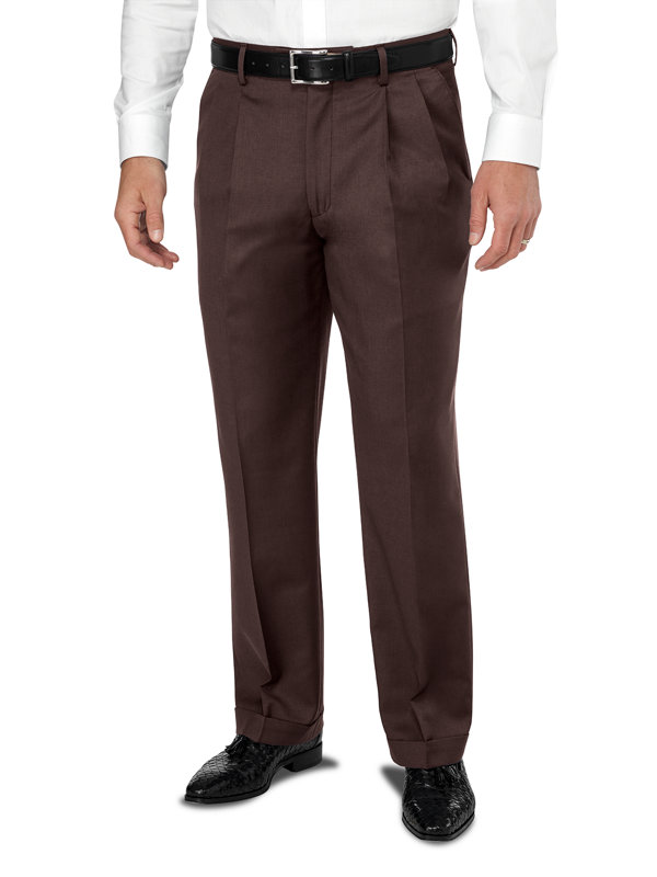 Wool Gabardine Pleated Pant