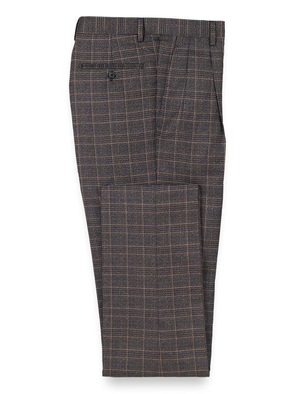 Plaid Pleated Pants