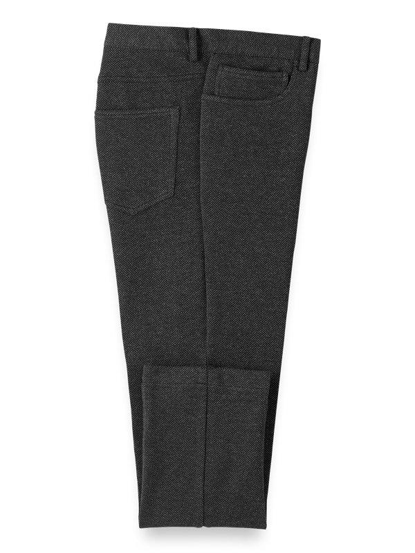 Knit Herringbone Five Pocket Pants