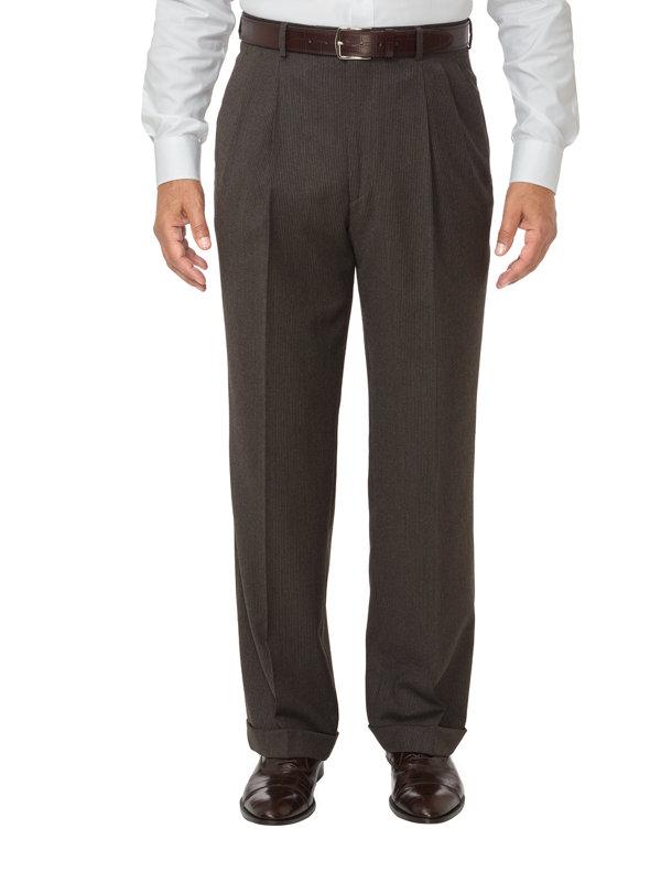 Fine Line Stripe Pleated Pants