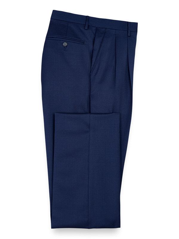 Wool Gabardine Pleated Pants