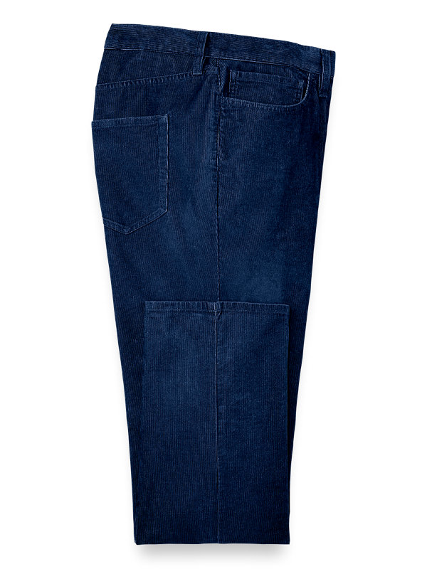 Five Pocket Corduroy Flat Front Pant