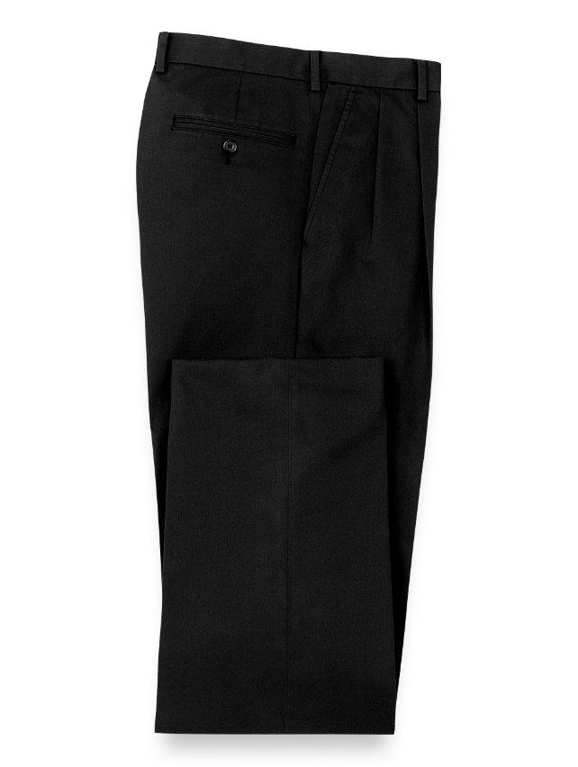 Non-Iron Cotton Chino Pleated Pants
