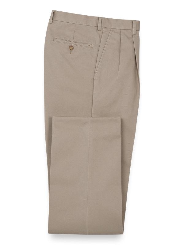Non Iron Chino Pleated Pants