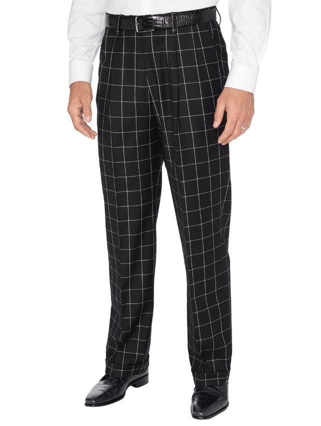 Wool Flannel Pleated Pants