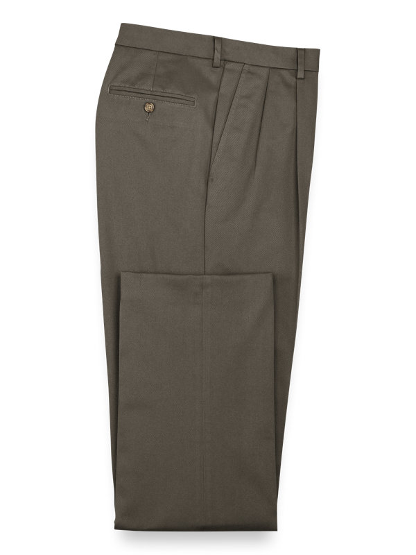 Impeccable Cotton Chino Pleated Pants